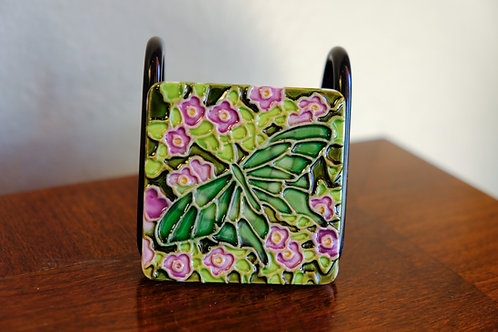 Ceramic Green Butterfly Magnet