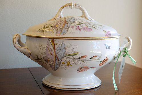 Old Paris Hand-Painted Soup Tureen