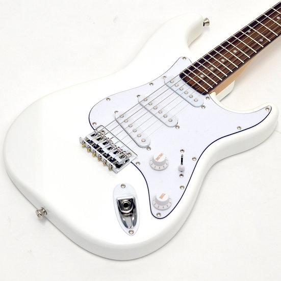 小さめサイズ!初心者向け Playtech ST025 WHITE ミニギター