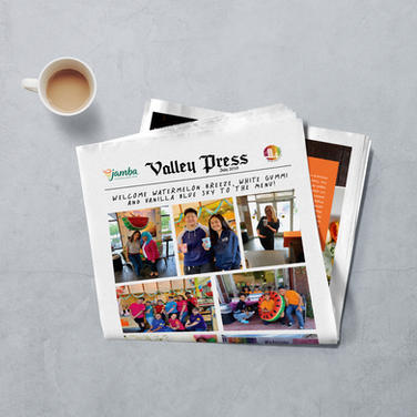 Printed Newsletter for Jamba Franchise