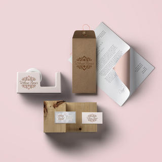 Branding Mockup for Cannabis Brand Urban Roses