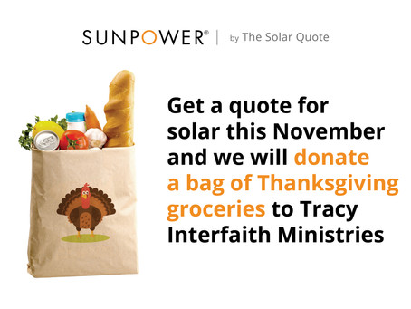 The Solar Quote Gives Back to Tracy Interfaith Ministries