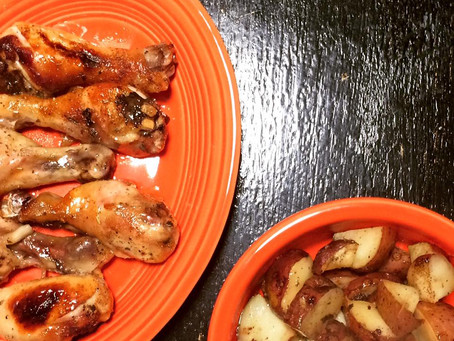 Honey Roasted Chicken and Potatoes