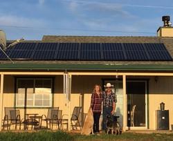 SunPower solar panels on roof