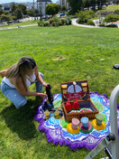 Jamba Smoothie photoshoot in Mission Dolores Park