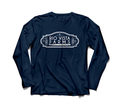 Sundae Driver Navy Long Sleeve Shirt