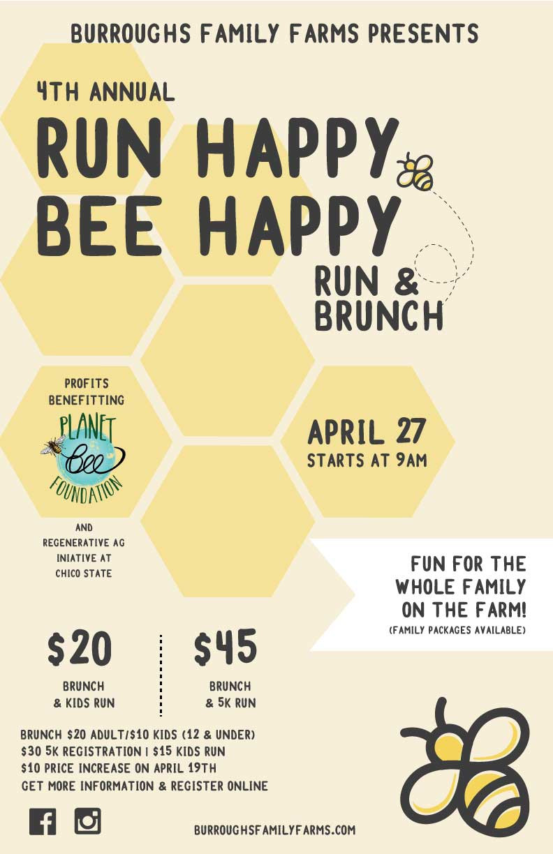 Run Happy Bee Happy Run and Brunch