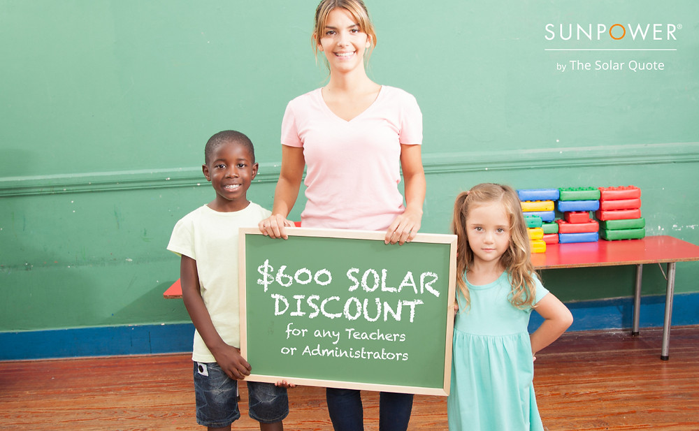 Solar Teacher Discount