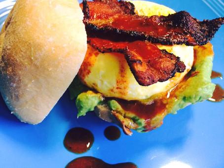 Gluten Free Ciabatta Breakfast Sandwich