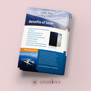 Flyer for The Solar Quote
