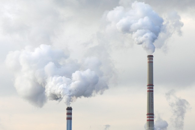 smoke stacks putting out high levels of pollution