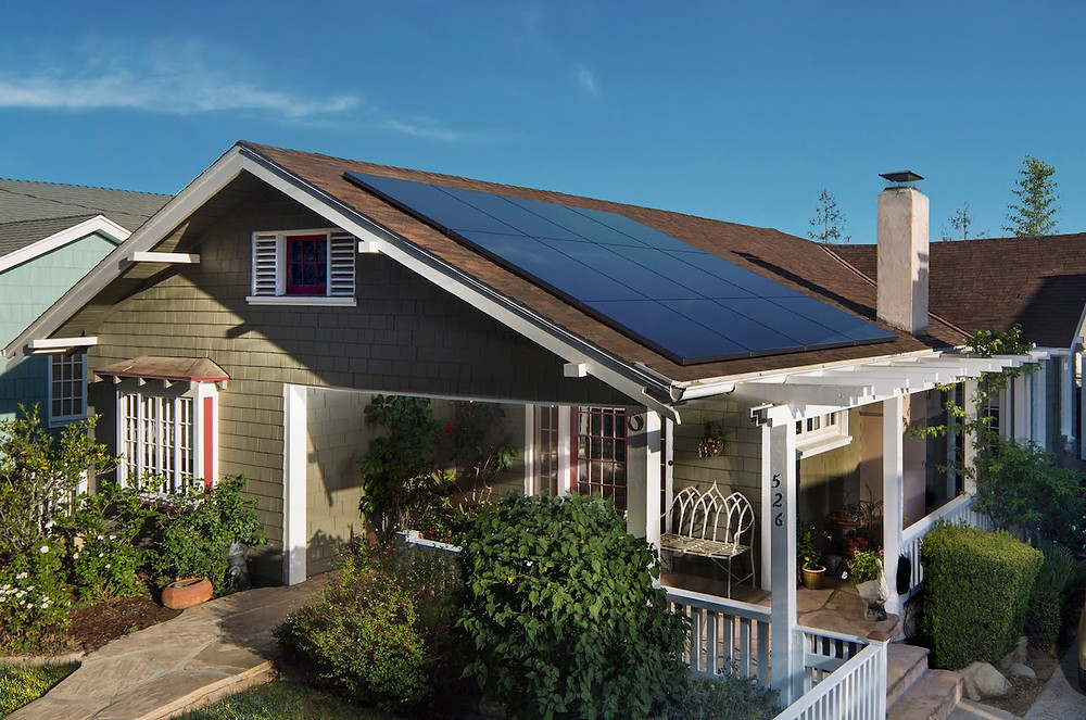 house with sunpower solar panels - solar panel efficiency