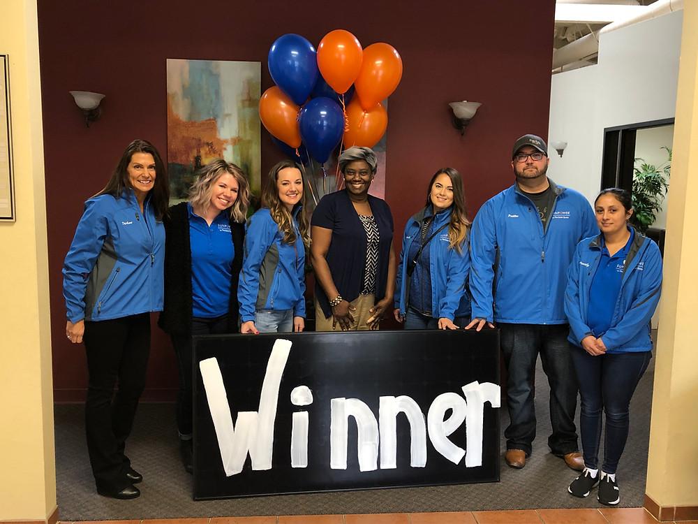 Sunpower solar team with free solar panel winner