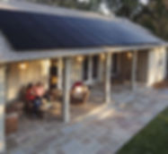 back porch of house with SunPower Solar panels