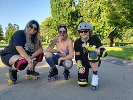 Daphne, Jenny, & Rachel Roller Skating