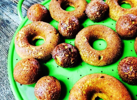 Maple Cinnamon Glazed Donuts (paleo, gluten-free and dairy-free)