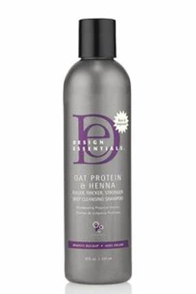 Design Essentials Oat Protein & Henna Deep Cleansing Shampoo 8 oz
