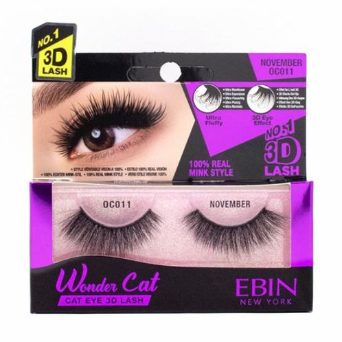 Ebin New York Wonder Cat Cat Eye 3D Lash November OC011