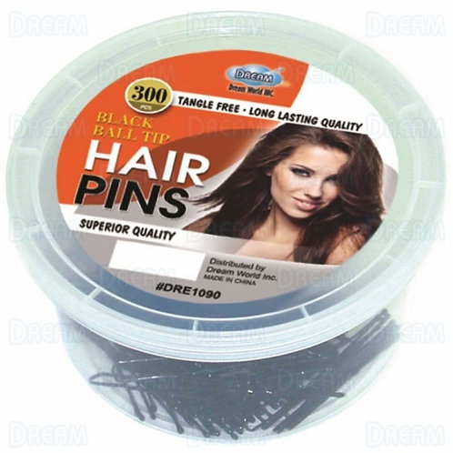 DREAM HAIRPIN 300CT/TUB 1-3/4″ Black