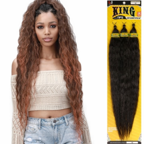 "Bobbi Boss King Tips Ocean Wave 28"" 3X Braids Synthetic"
