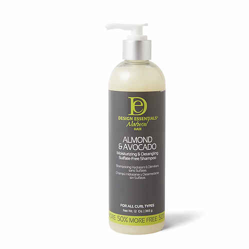 Almond & Avocado Moisturizing & Detangling Sulfate-Free Shampoo - 12oz