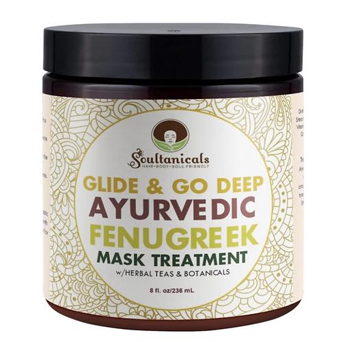 Soultanicals Glide & Go Ayurvedic Fenugreek Mask Treatment 8 oz