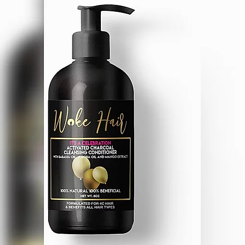 Woke Hair Activated Charcoal Conditioner 8 oz