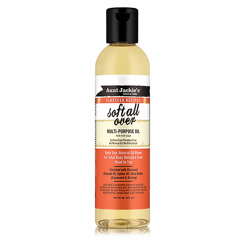 Aunt Jackie's Curls & Coils Flaxseed  All Over Multi-Purpose Oil 8oz