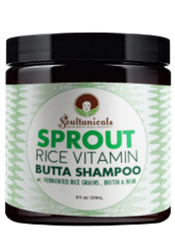 Soultanicals Sprout Rice Vitamin Butta Shampoo 8 oz