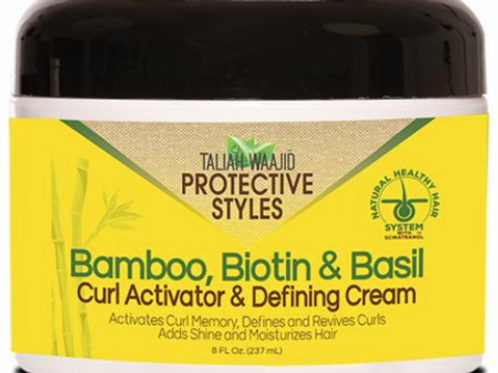 Taliah Waajid Protective Styles Bamboo Biotin & Basil Curl Activator & Defining