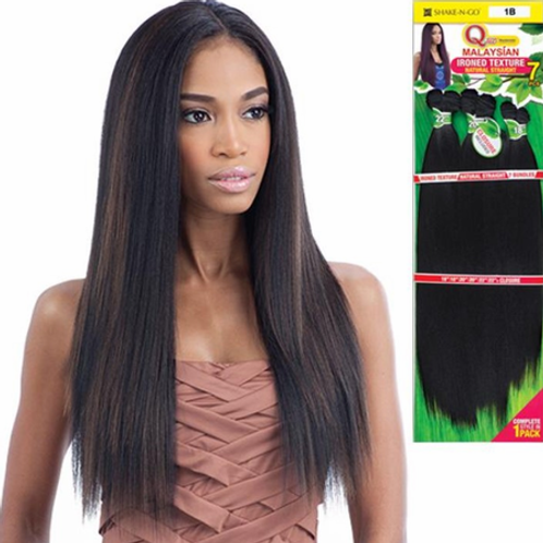 "Que Malaysian Ironed Texture Human Hair 7 Pcs 26"" 24"" 22"" w/Closure"