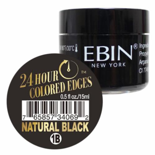 Ebin New York 24 Hour Colored Edges Tamer Natural Black 0.5 oz