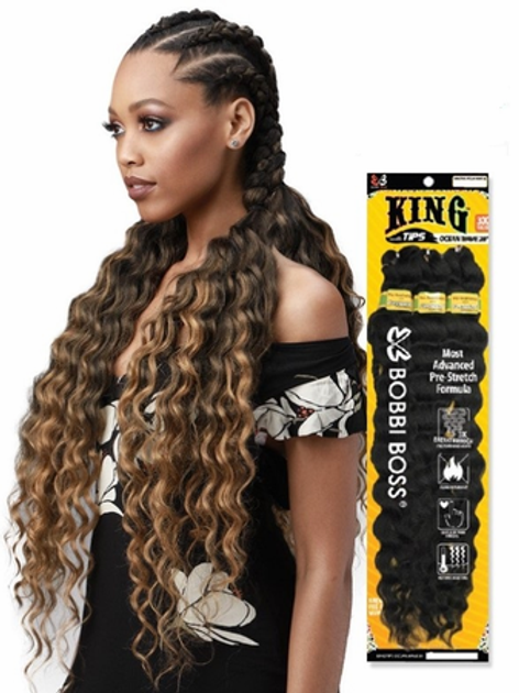 "Bobbi Boss King Tips Ocean Wave 28"" 3X Braids Synthetic"