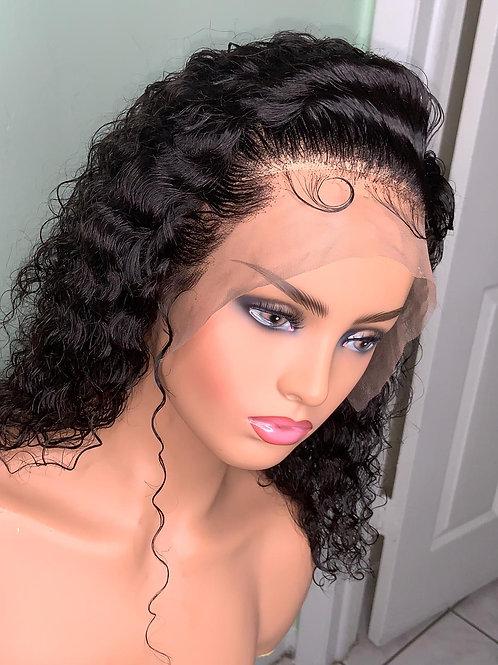 Water Wavy 14 Inch Human Hair Wig