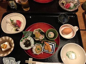 food at an onsen