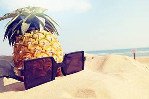Pineapple and sunglasses in Hawaii