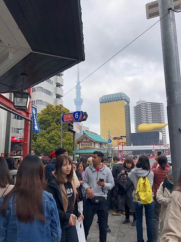 Crowds in Asakusa, Tokyo