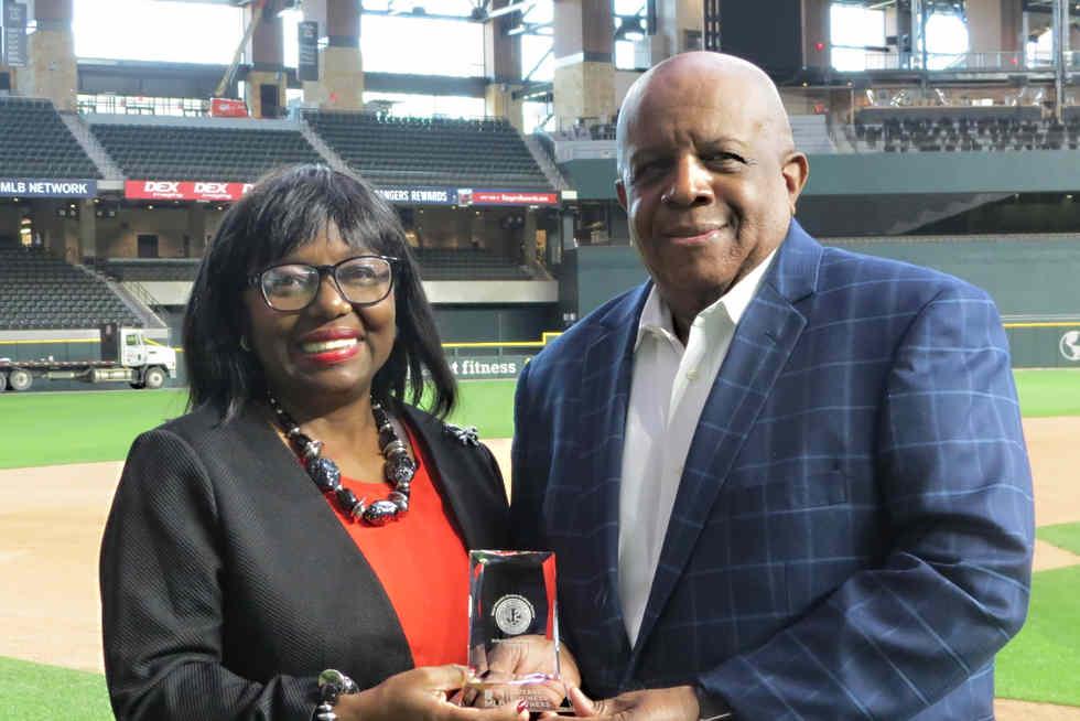 2020 Texas Rangers MLB Jackie Robinson Award!