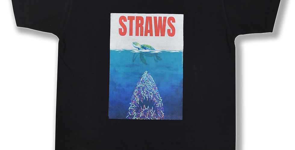 Jaws/ Straws tee