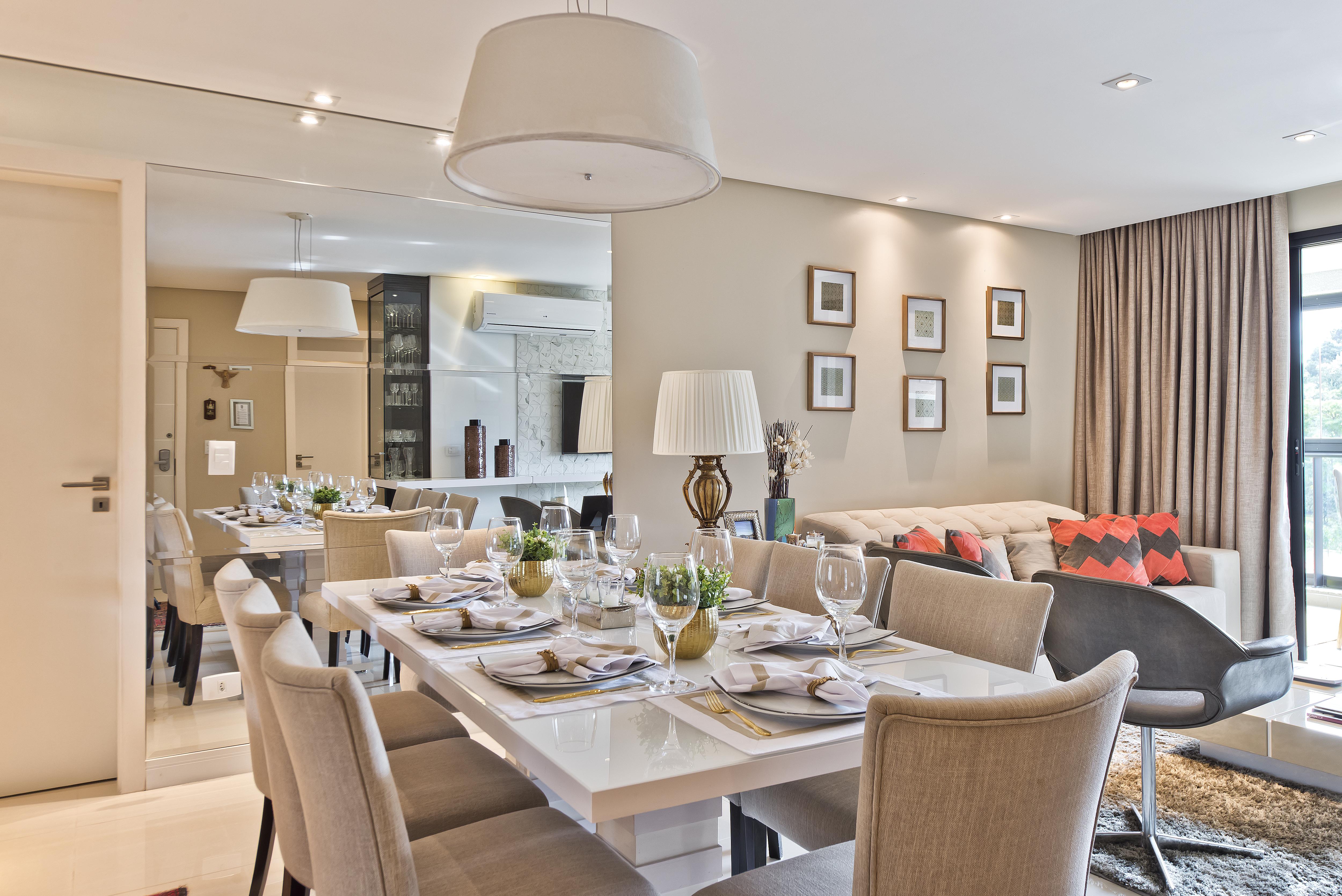 Sala de jantar + estar