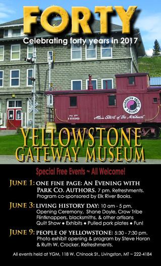 People of Yellowstone book launch    Yellowstone Gateway Museum