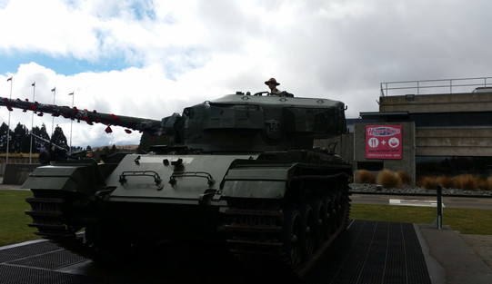 Super Trooper driving a tank