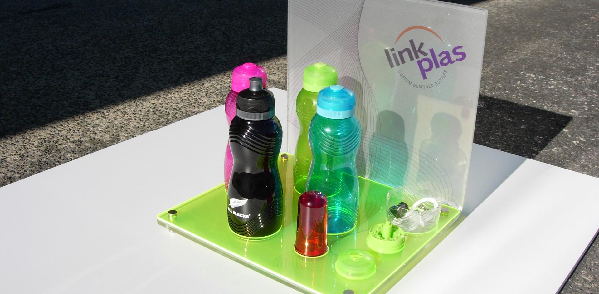 Plastic bottle display