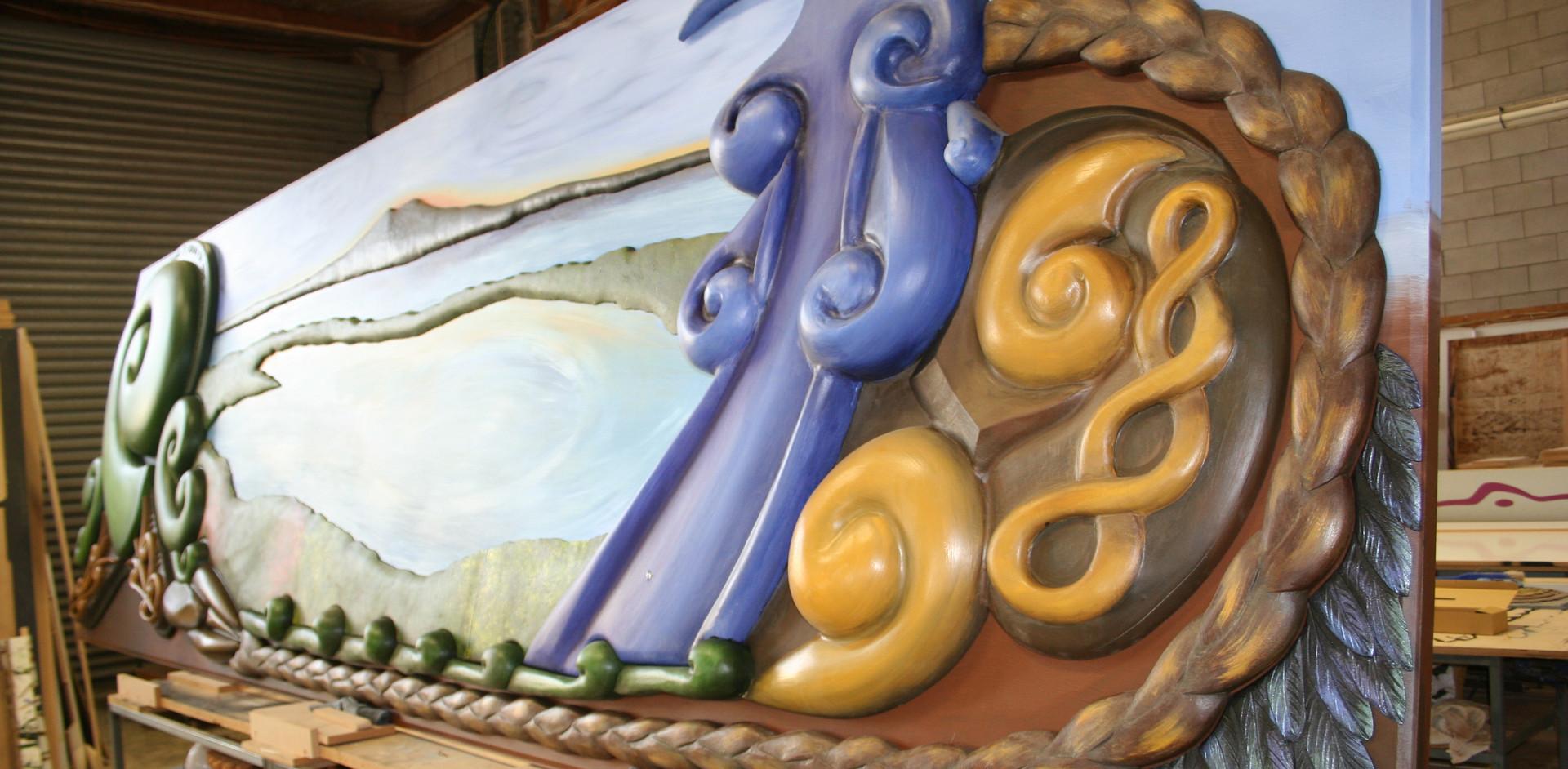 Rangitoto wall sculpure art