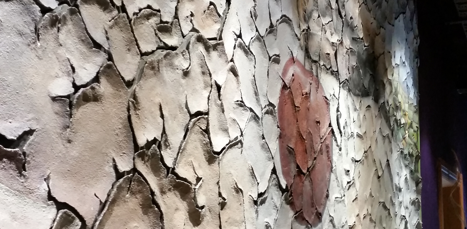 Concrete textured wall art