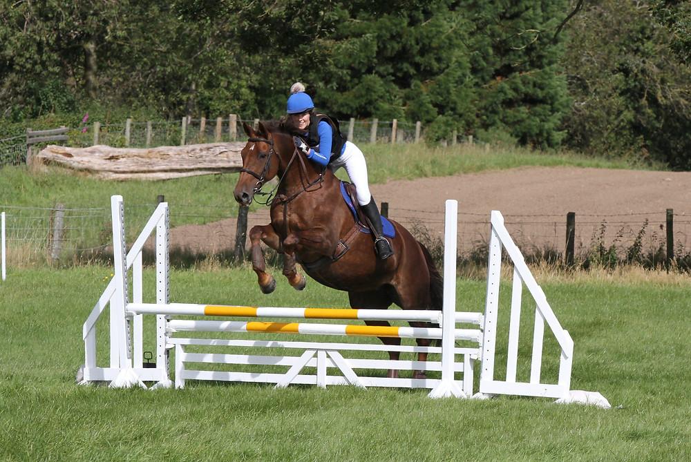 Saffron and Bella at Mostyn Farm Ride Xpress Eventing