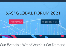 SAS Global Forum 2021 - Watch on Demand and Proceedings