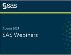 SAS Webinars in August 2021