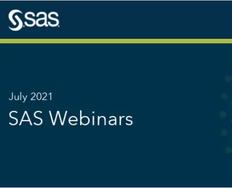 SAS Webinars in July 2021
