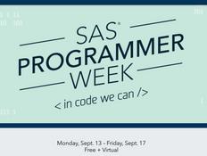 SAS Programmer Week, Sept 13-17